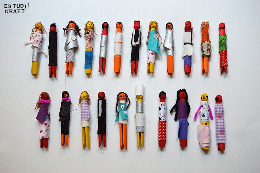 Estudi KRAFT personatges agulles de fusta