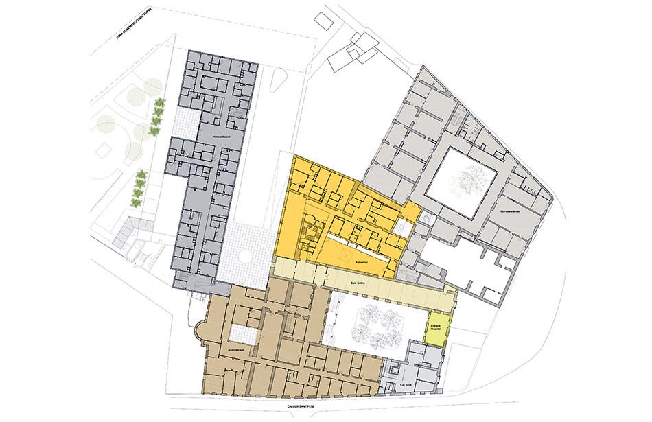 SP25 Arquitectura aixecament de plànols Hospital de la Santa Creu Vic