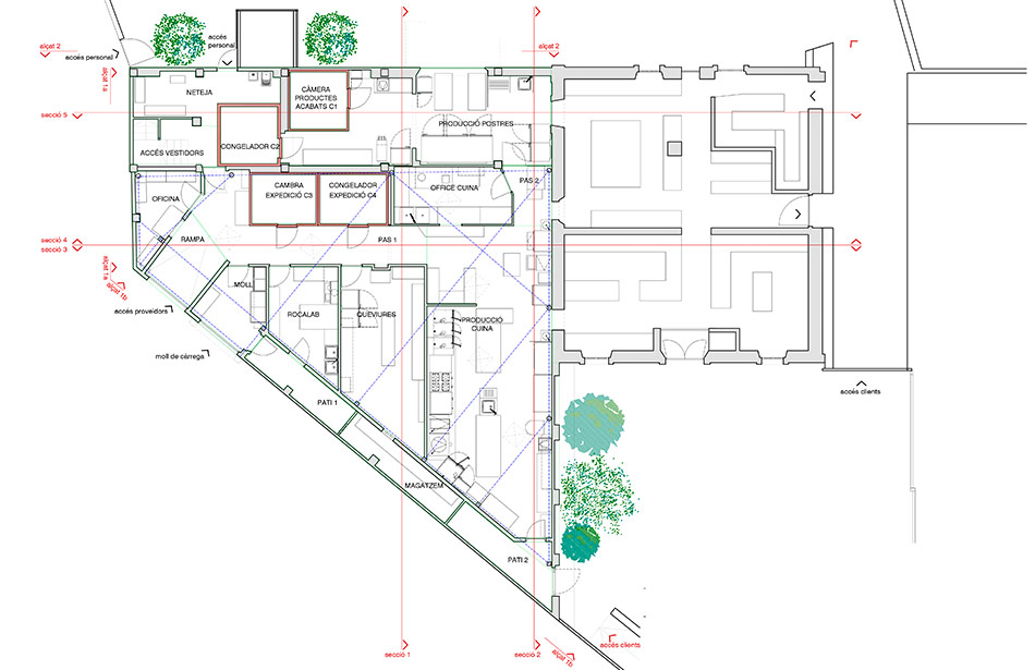 SP25 Arquitectura aixecament de plànols Celler de Can Roca Girona