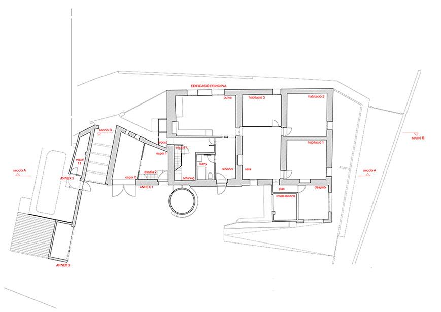 SP25 Arquitectura aixecament de plànols masia Manresa