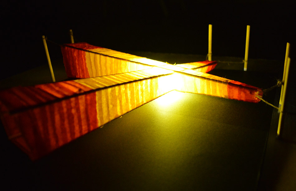 SP25 Arquitectura efímera làmpara per a un claustre Vic
