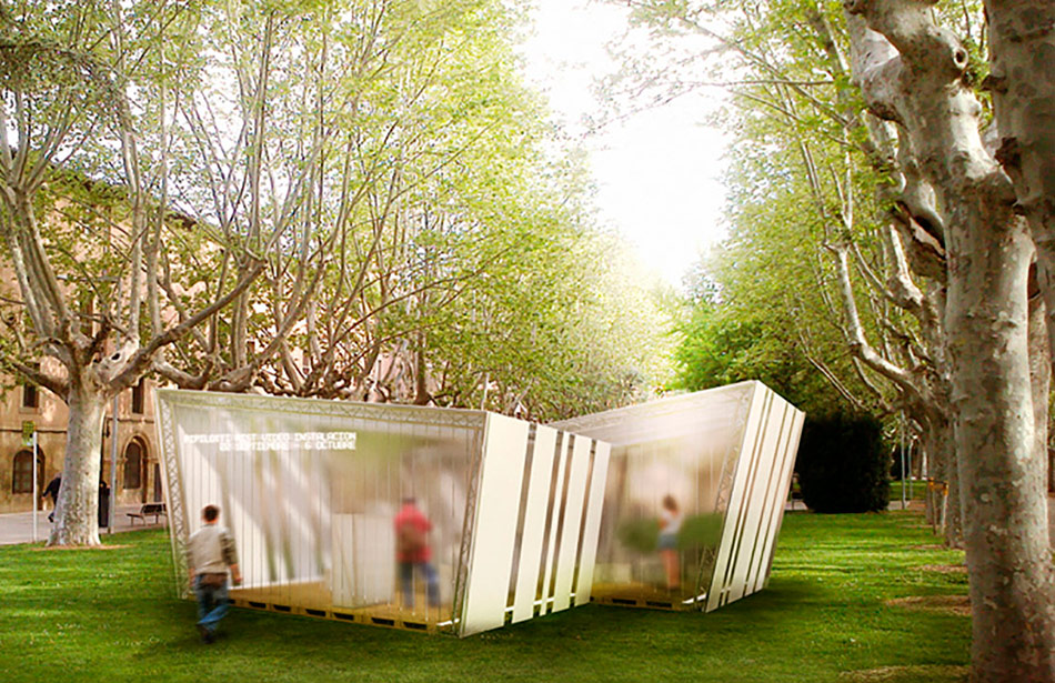 SP25 Arquitectura efímera pavello exposicions temporal