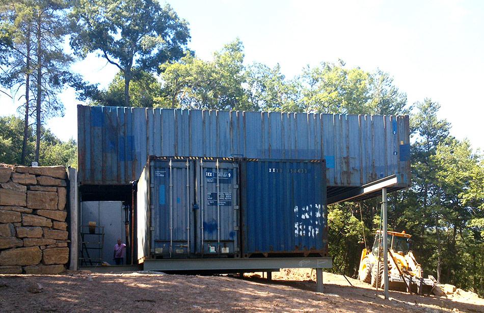 SP25 Arquitectura obra nova casa contenidors maritims