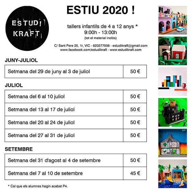 info tallers estiu 2020